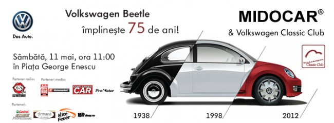 Volkswagen Beetle MIDOCAR Bucuresti parada 75 ani